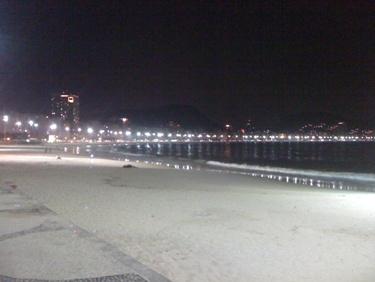 Rio de Janeiro Pictures Copacabana Beach Night