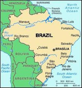 Sao Paulo Brazil map